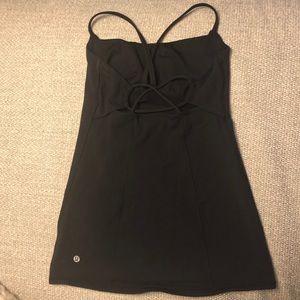 Lululemon black workout tank top